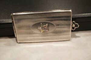 VINTAGE STERLING SILVER DOUBLE PICTURE LOCKET WATCH FOB Monogrammed K.D