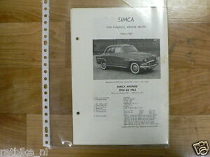 S07-SIMCA TYPE 9 ARONDE, ARONDE P60 EN P61 1954-1964 -K