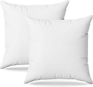 Confezione da 2 Pezzi Anime imbottitura cuscino 45x45 cm Interno Bianco
