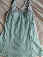 Kyodoan Long Sports bra  Top Mint and Gray   X-Small New