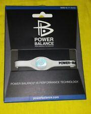 White Power Balance Hologram Silicone Wristband Size S(17.5cm)