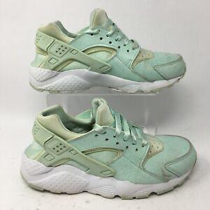 Nike Youth 6.5 Womens 8 Huarache Run SE Igloo Running Sneakers Mint 904538-300
