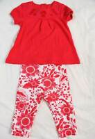 M&S baby girls pink set, leggings bottoms and top new cotton marks and spencer