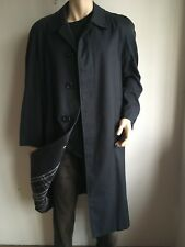 BURBERRY MENS XXL 44-46 NAVY VINTAGE TRENCH COAT RAINCOAT JACKET MAC