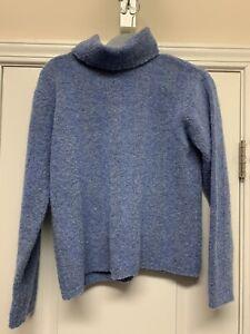 light blue Talbots sweater size small Italian made petites