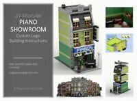 LEGO CUSTOM MODULAR INSTRUCTIONS MANUAL PIANO SHOWROOM PDF MOC J1 train city
