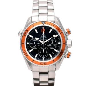 OMEGA 222.30.38.50.01.002 Seamaster Planet Ocean Chrono Unisex Orange Bezel SS