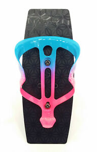 Supacaz Fly Bicycle Water Bottle Cage Limited Edition - Neon Pink/Blue