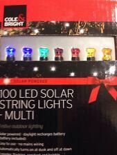 Natale 100 LED Solare Stringa Luci tripla funzione sfarfallio & Flash!!!