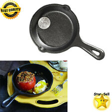 Mini Cast Iron Skillet Fry Pan 3.5 Inch Grill Kitchen Cookware Small Frying Pan
