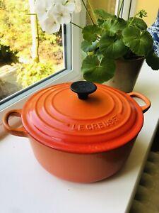 Le Creuset Cast Iron Casserole 20 Dutch Oven Volcanic Orange