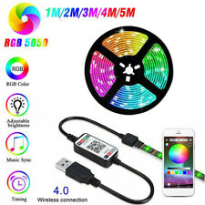 5V USB Power LED Strip Lights 5050 RGB TV Backlight Bluetooth APP Remote Music