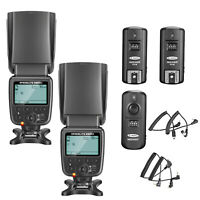 Neewer 2pcs NW-561 LCD Flash Speedlite Kit with Trigger for Canon NIkon Camera