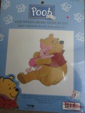 Winnie the Pooh Counted Cross Stitch Kit Best Friends Pooh and Piglet New