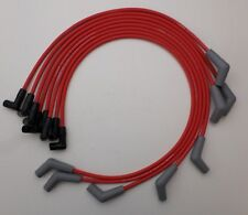 FORD 289-302-351W Coil-In-Cap HEI RED 8mm Spiral Core Spark Plug Wires USA made