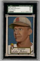 1952 Topps Baseball #58 Bob Mahoney (black back) - SGC 5.5 EX+