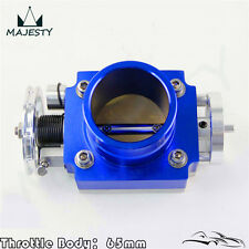 "Alloy Aluminum Universal CNC Billet Intake Throttle Body 65mm 2.5""inch Racing"