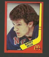 Barry Beck New York Rangers #27 1982-83 McDonald's Hockey Sticker NM/M