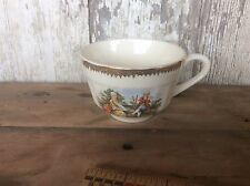 Vintage Unmarked Tea Coffee Cup , Decorative Victorian Man And Women