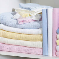 1Pc*Clair de Lune Super Soft 100% Cotton Baby Cellular Blanket for Pram, Crib w/