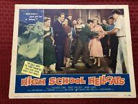 High School Hellcats Original Lobby Card 1958 58/284 #1 11x14