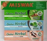Dabur Herbal Toothpaste With Clove, Neem,Basil & Maswak Gum Protector 100ML