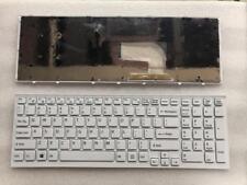OEM SONY Vaio VPCEH27FX VPCEH27FX//P VPCEH27FX//W White Keyboard With Frame New US