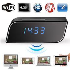 1080P HD Réveil espion caché motion p2p wifi caméra ip horloge moniteur IR Cam