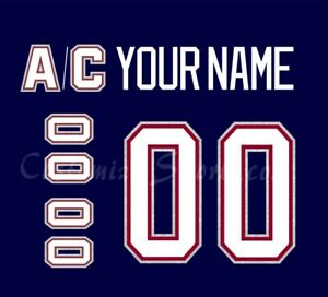 Vancouver Canucks Customized Number Kit for 1997-2007 Navy Jersey