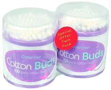 COTTON TREE 300 Cotton Buds Twin Pack Pure Cotton Buds White Buds Ear Buds