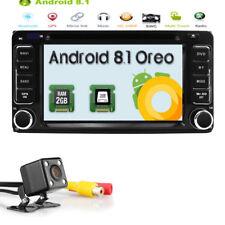 Android 8.1 Car DVD Player GPS Radio DAB Stereo fr Toyota RAV4 Corolla Hilux+Cam