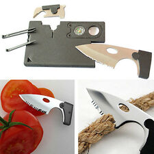 9in1 Survival Pocket Knife Credit Card Companion with Lens/Compass Tool