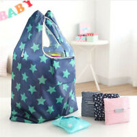 New Reusable Shopping Bag Folding Store Handbag Large Portable Tote Bag Fashion