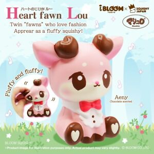 iBloom Squishy Pink Heart Fawn Lou Deer Aeny Limited Edition NEW