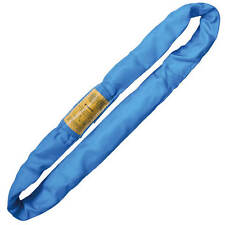 Endless Round Lifting Sling Heavy Duty Polyester Blue 8'