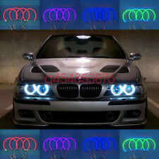 4x Cotton RGB LED Angel Eyes Halo Rings DRL FOR BMW E36 E38 E39 E46 3 5 7 Series