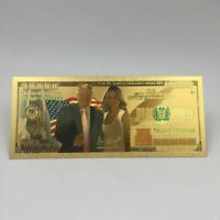 10pcs/lot 100 Trillion US Dollar Gold Banknote Donald Trump and The First Lady