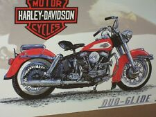 DUO-GLIDE -- Harley-Davidson Motorcycle -- OLD SIGN - Still Good -SHOWS DETAILS