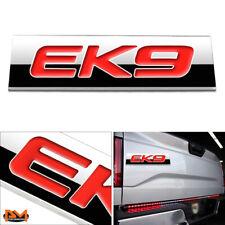 """""""EK9"""" Polished Metal 3D Decal Red Emblem Exterior Sticker For 96-00 Honda Civic"""