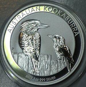 Kookaburra  2017 @ Australien 1 Oz (Unze) ST, Silbermünze 0.999–top, Münzkapsel