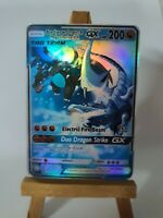 Mega Charizard X and Blue Eyes w. Dragon Proxy Custom Pokemon Card in Holo
