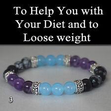Healing Stretch Bracelet Self Restrain Diet- loose weight CHakra Gemstone