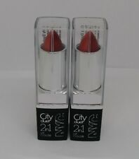 2X NYC City Duet 2in1 Lip Color #425 The Red Hots Lipstick New Sealed Lot of 2