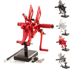 Red FXCNC Rearsets Footpeg Footrest For  Aprilia RS125 2T 125 1996-2010 1997 98