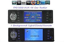 Car Radio Stereo FM AUX/7 Background Lights/MP4/MP5/USB/SD/Clock/Remote Control