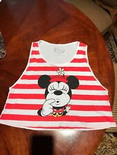 New listing WomensJuniors White & red stripe Minnie Mouse Shirt Top Tank by Disney S