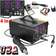 4 In 1Hot Air Gun Unit Soldering Rework Station Welding Solder Machine US SALE