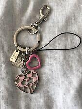 NEW Coach  Heart keychain keyring key fob charm