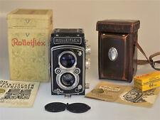 Rolleiflex 6x6, Kameraset mit Carl Zeiss Tessar 1:3,5/75 mm