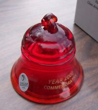 Fenton Red Glass Bell System Paperweight New in box